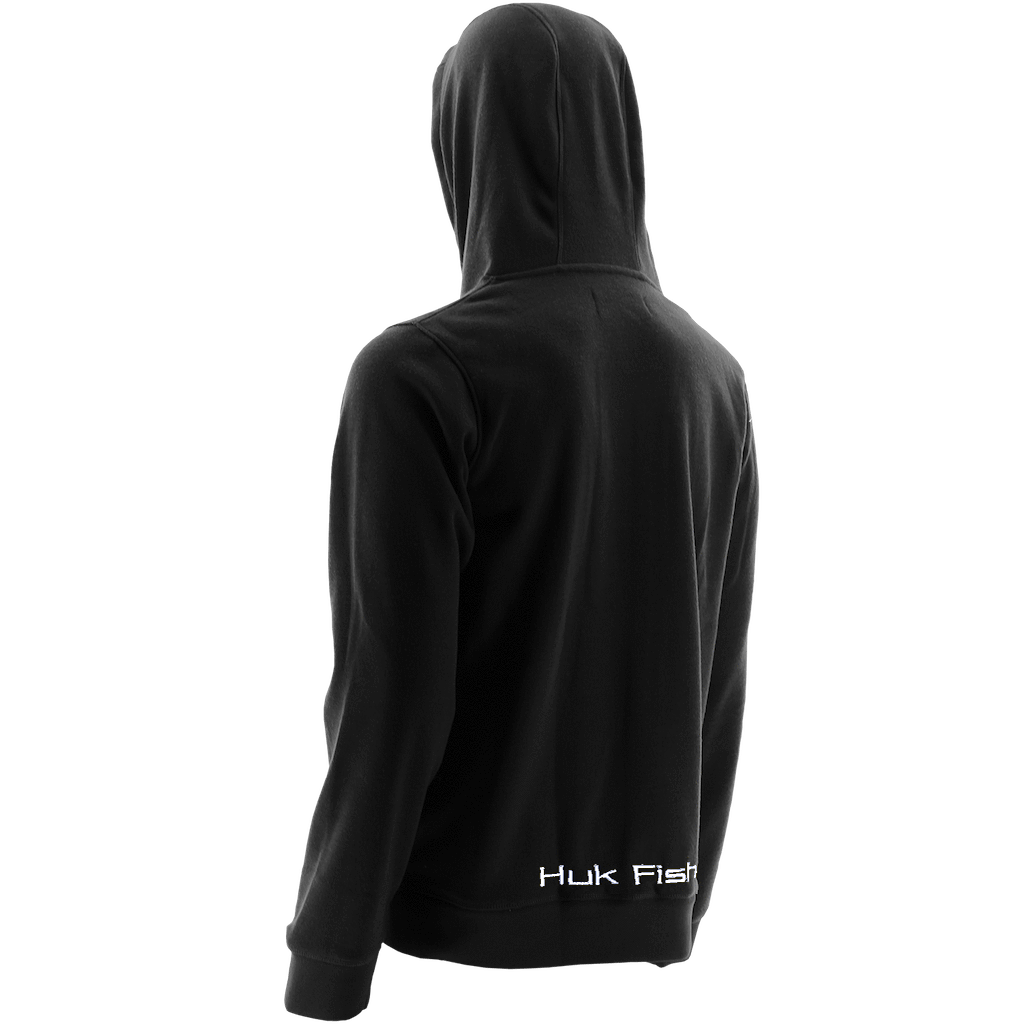 Size XL Color Black NEW Huk Trophy Performance Fishing Hoodie Zip Up Jacket