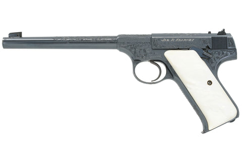 "Colt Woodsman Target 6-1/2"" 22LR SN:102052 MFG:1936 - Factory Engraved"