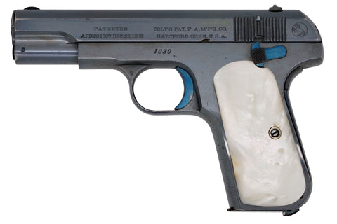 Colt 1908 Pocket Hammerless 380ACP SN:1030 MFG:1908