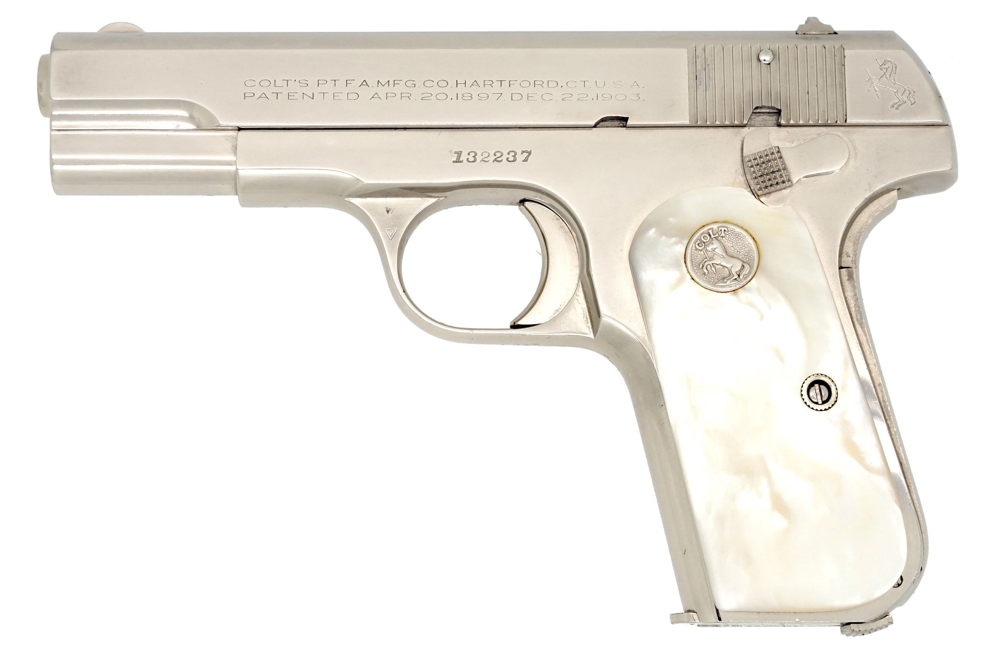 Colt 1908 Pocket Hammerless 380ACP SN:132237 MFG:1939