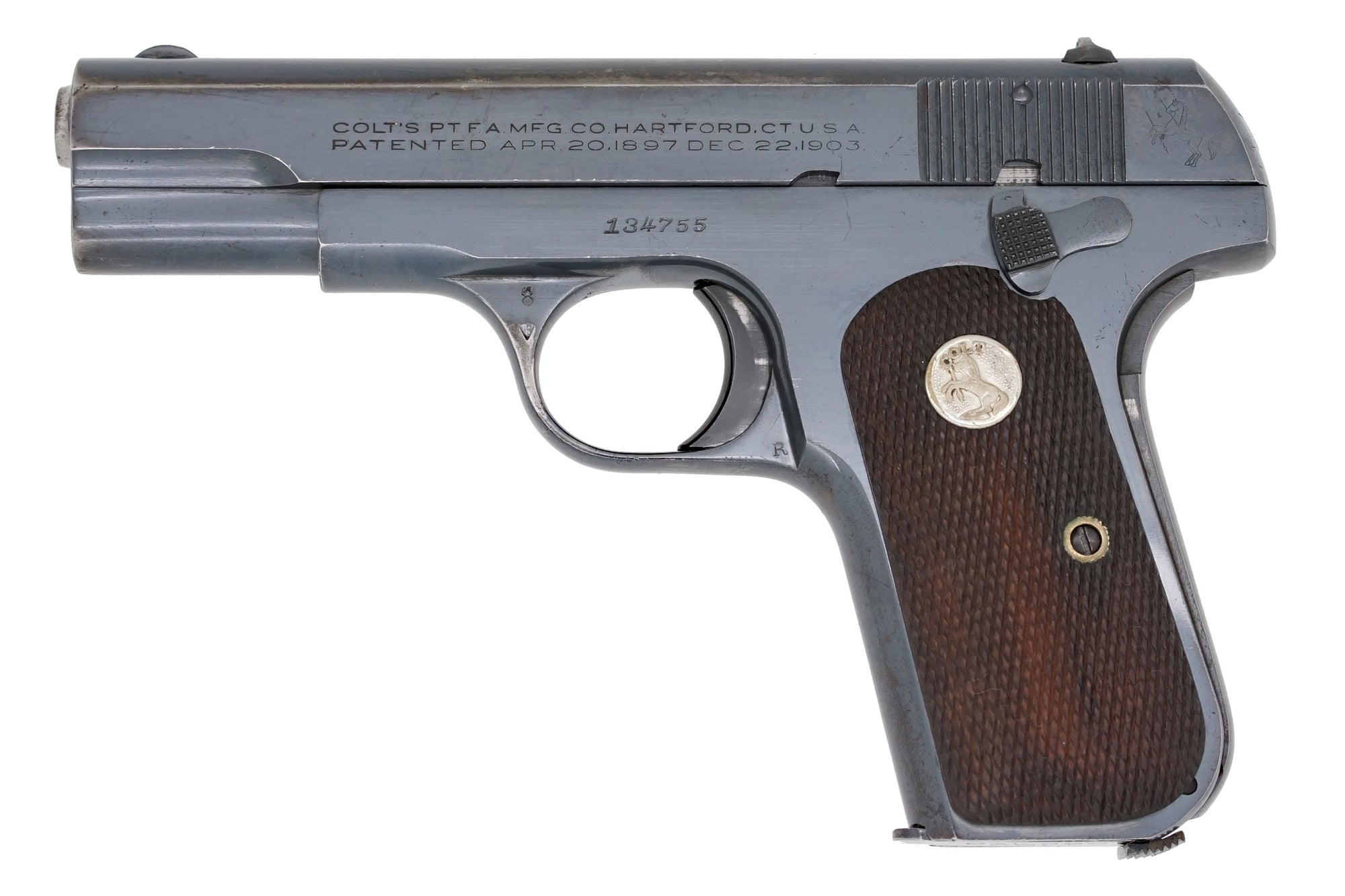 Colt 1908 Pocket Hammerless 380ACP SN:134755 MFG:1943 Navy