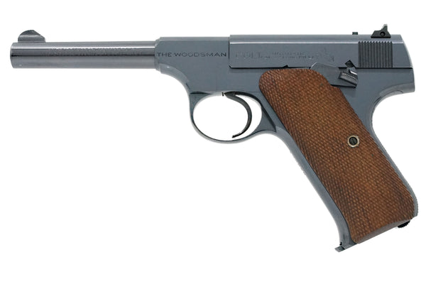 "Colt Woodsman Sport 4-1/2"" 22LR SN:135678 MFG:1938 - Factory Checkered"