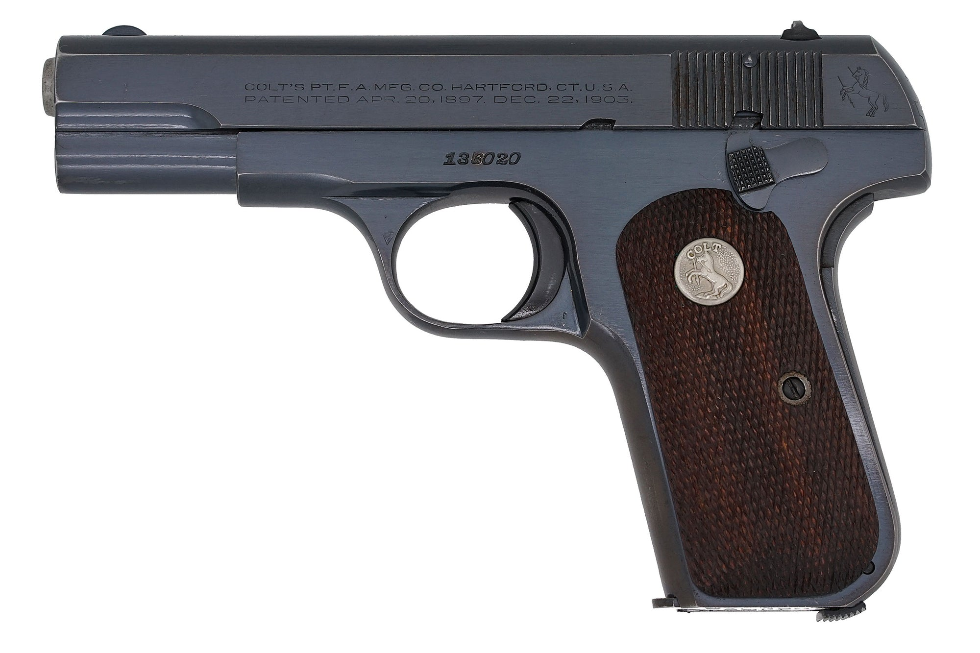 Colt 1908 Pocket Hammerless 380ACP SN:136020 MFG:1944 Navy Technical Mission - Double Header
