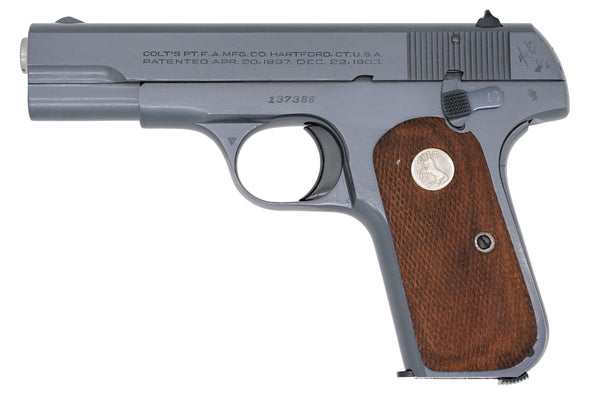 Colt 1908 Pocket Hammerless 380ACP SN:137386 MFG:1944