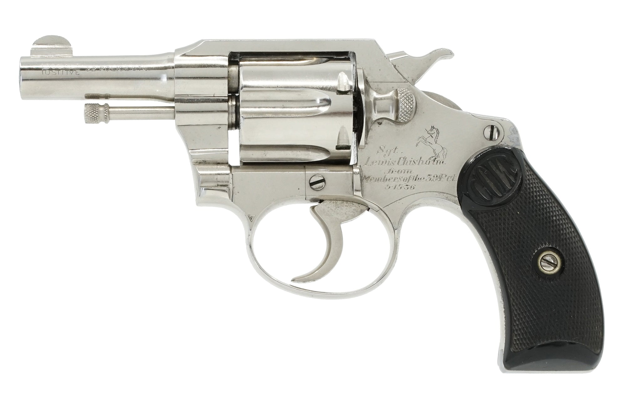 "Colt Pocket Positive 2.5"" 32CTG SN:155877 MFG:1936 - Sgt. Chisholm"
