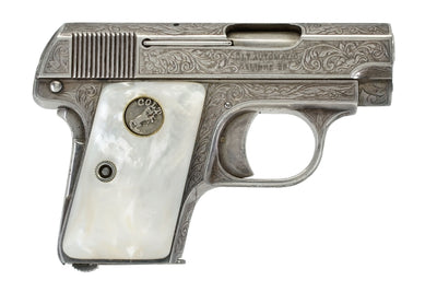 Colt 1908 Vest Pocket 25ACP SN:204424 MFG:1919 FACTORY ENGRAVED
