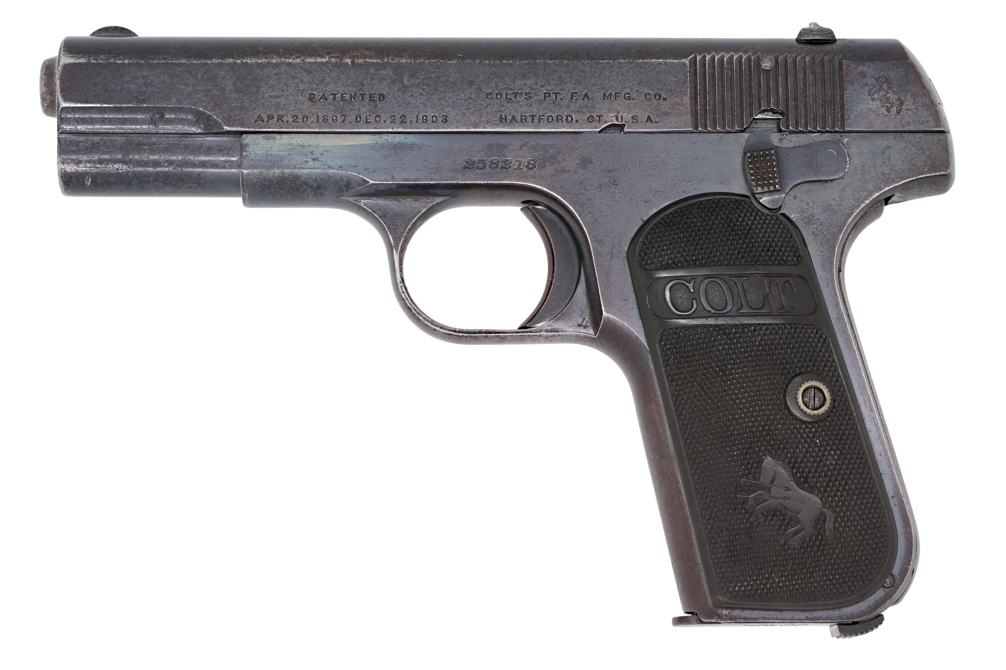 Colt 1903 Pocket Hammerless 32ACP SN:258218 MFG:1917 Navy
