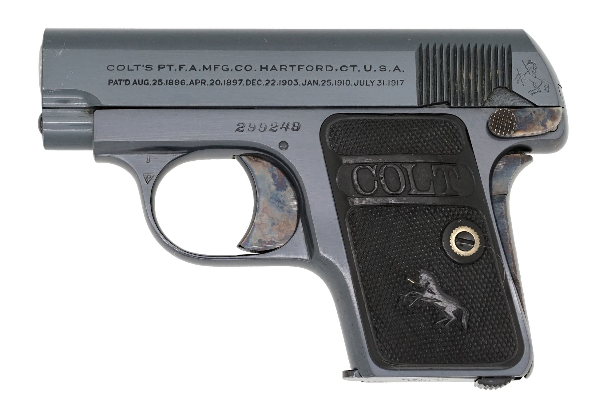 Colt 1908 Vest Pocket 25ACP SN:299249 MFG:1921