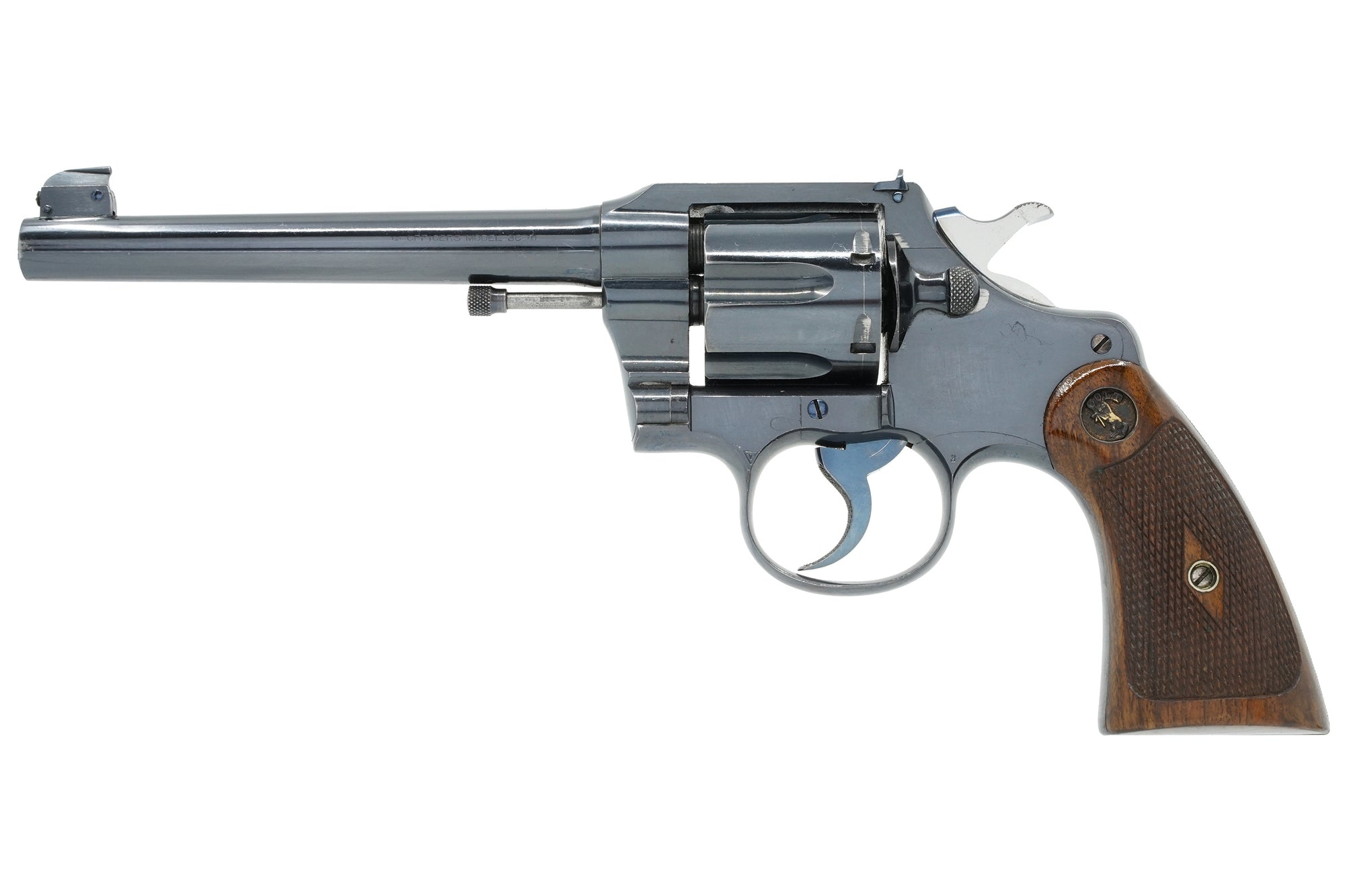 "Colt Officers Model Target 6"" 38 SN:338131 MFG:1912"