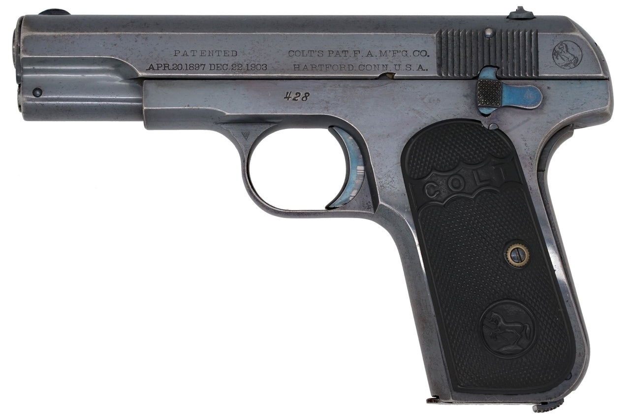 Colt 1908 Pocket Hammerless 380ACP SN:428 MFG:1908