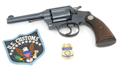 "Colt Police Positive 38 4"" SN:453931 MFG:1938 - U.S. Customs"