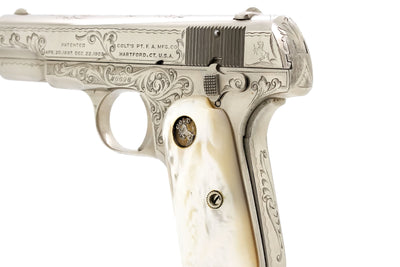 Colt 1908 Pocket Hammerless 380ACP SN:46696 MFG:1920 Factory Engraved