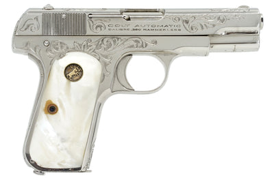 Colt 1908 Pocket Hammerless 380ACP SN:51592 MFG:1920 - Factory Engraved