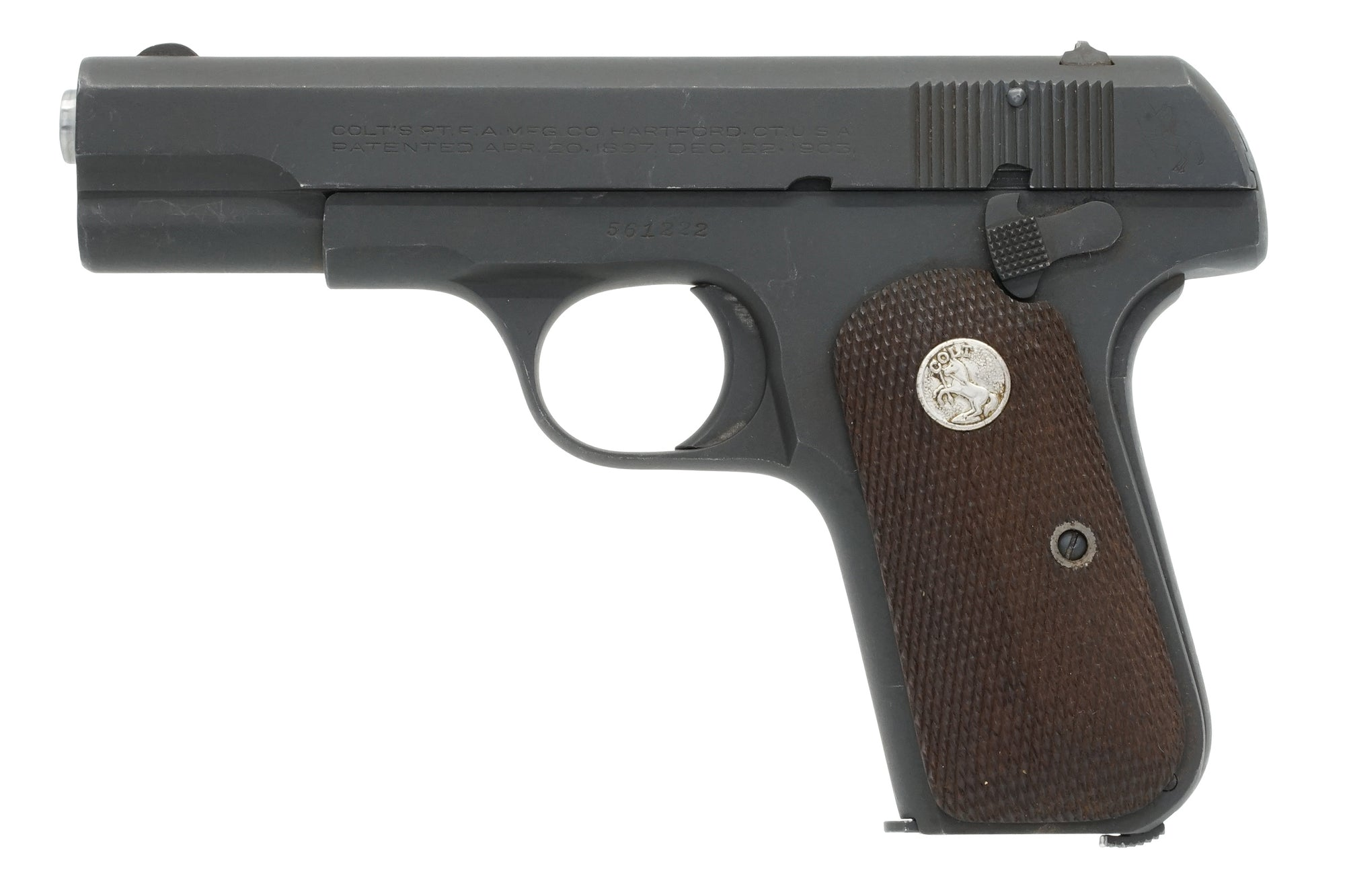 Colt 1903 Pocket Hammerless 32ACP SN:561222 MFG:1944 - Brigadier General Shaller
