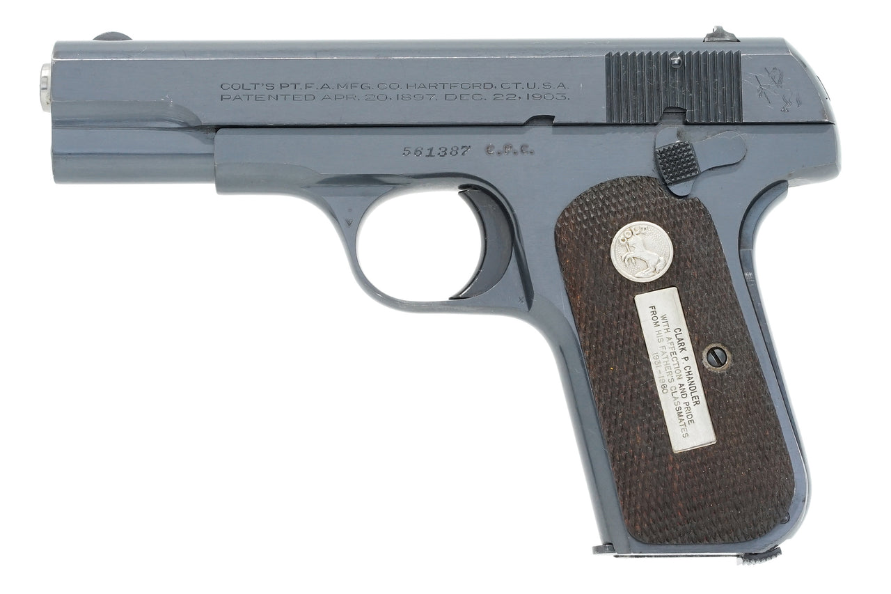 Colt 1903 Pocket Hammerless 32ACP SN:561387 MFG:1944 - Chandler Presentation