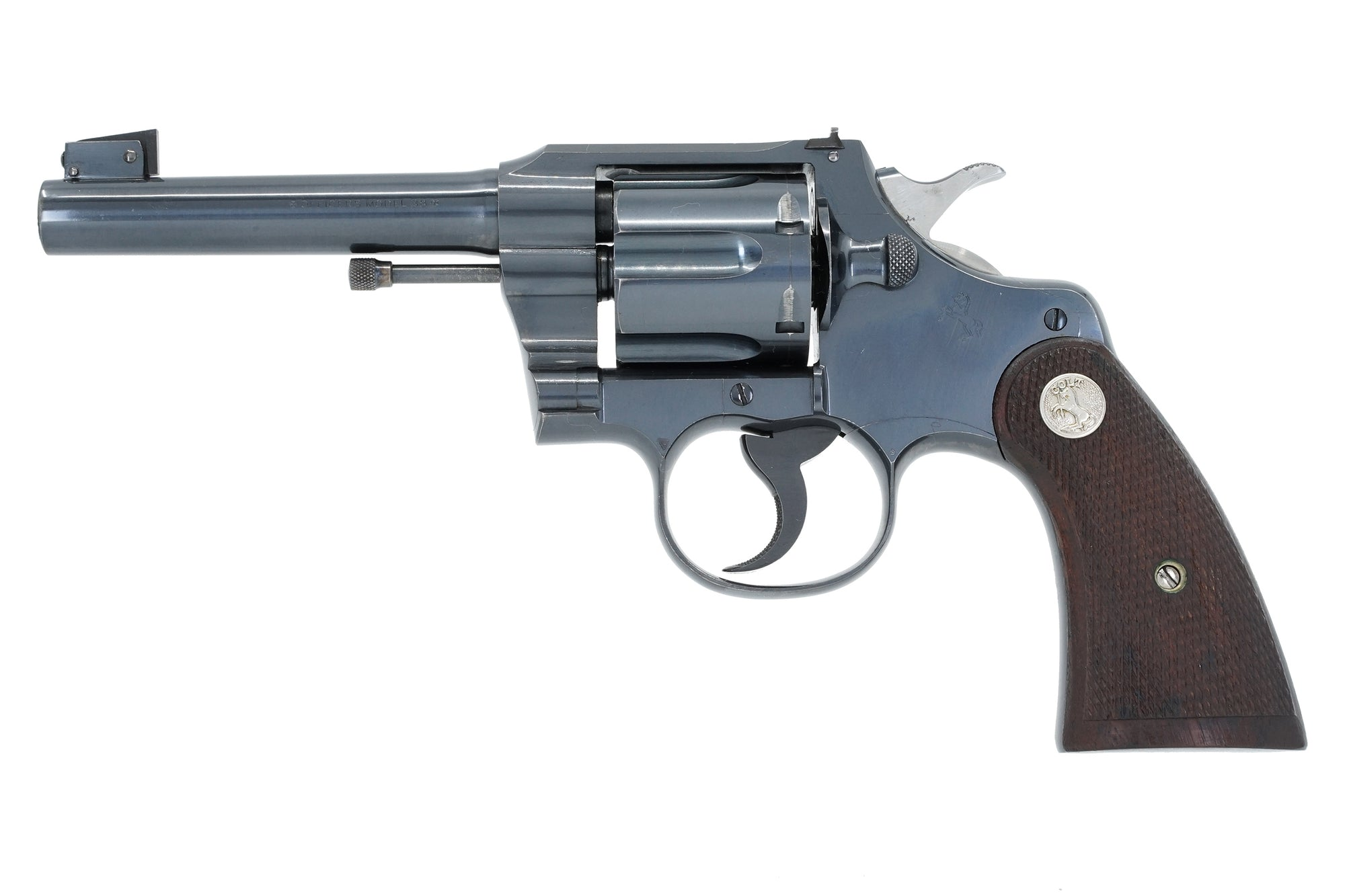 "Colt Officers Model Target 4 1/2"" 38 Special SN:578215 MFG:1932"