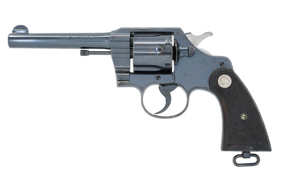 "Colt Official Police 5"" 38-200 SN:667009 MFG:1941 - British"