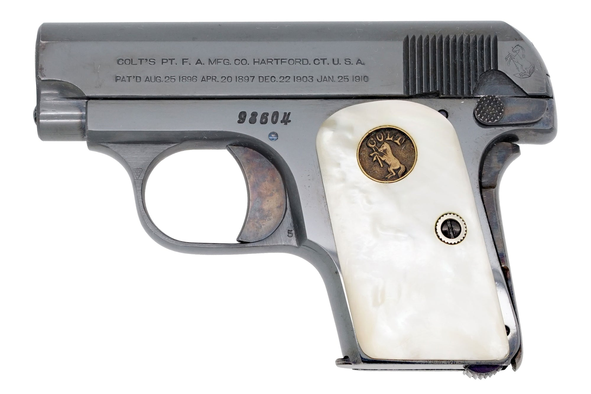 Colt 1908 Vest Pocket 25ACP SN:98604 MFG:1913