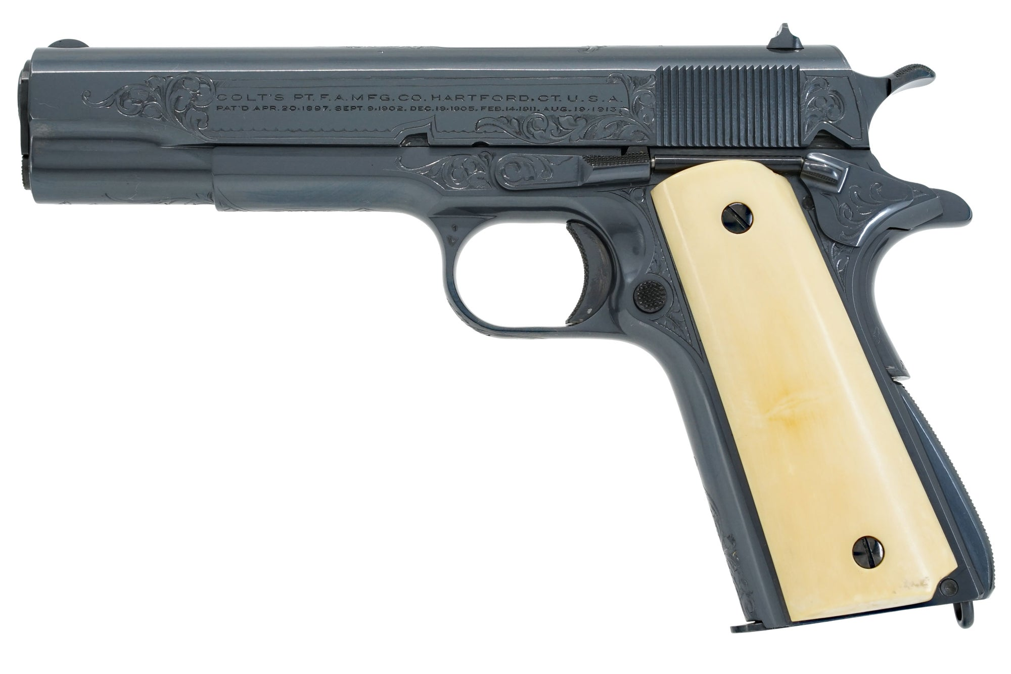 Colt Government Model 45ACP SN:C144284 MFG:1925 Factory Engraved