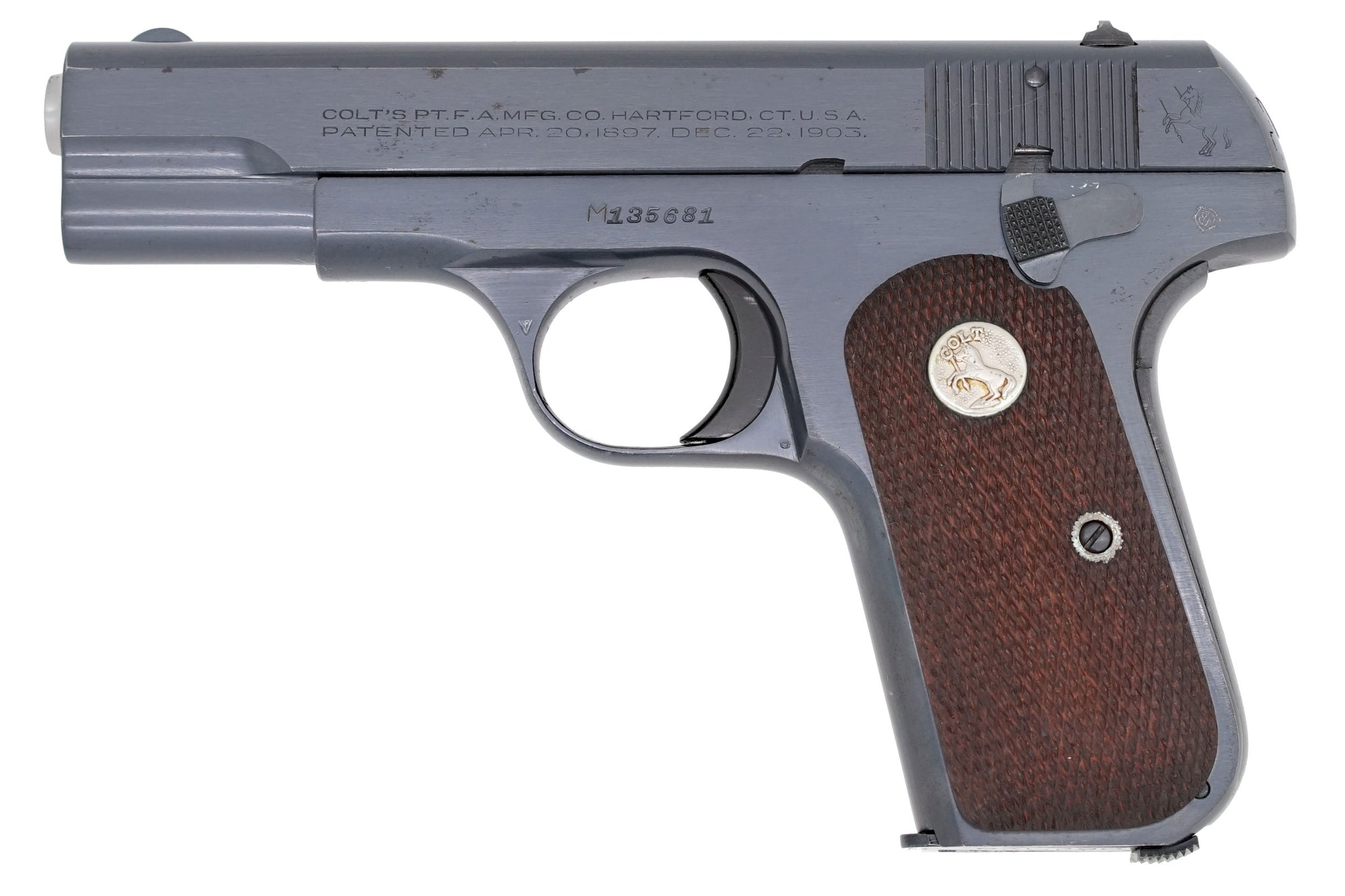 Colt 1908 Pocket Hammerless 380ACP SN:M135681 MFG:1944 Navy