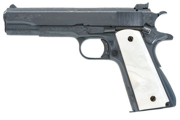 Colt Service Model Ace 22LR SN:SM718 MFG:1938 Factory Engraved