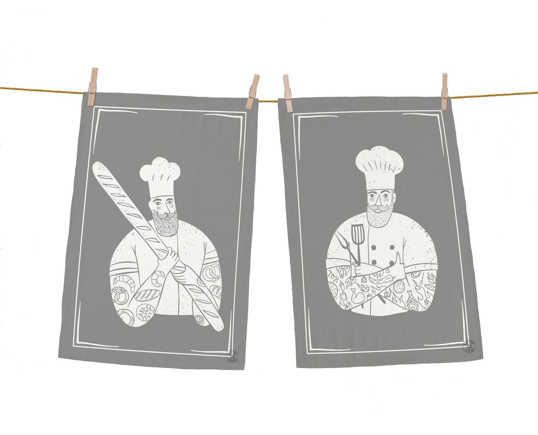 Butter Kings dish towel