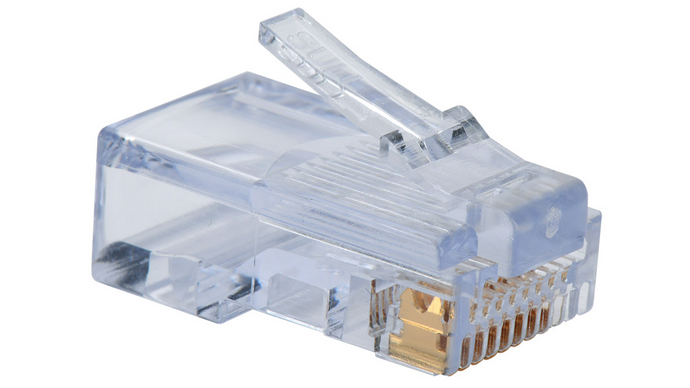100 003B Category 5e EZ-RJ45 plugs in a 100-pack