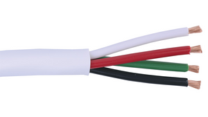 16-4C-KO+-WHT White KnockOut 16 AWG 4 conductor speaker cable