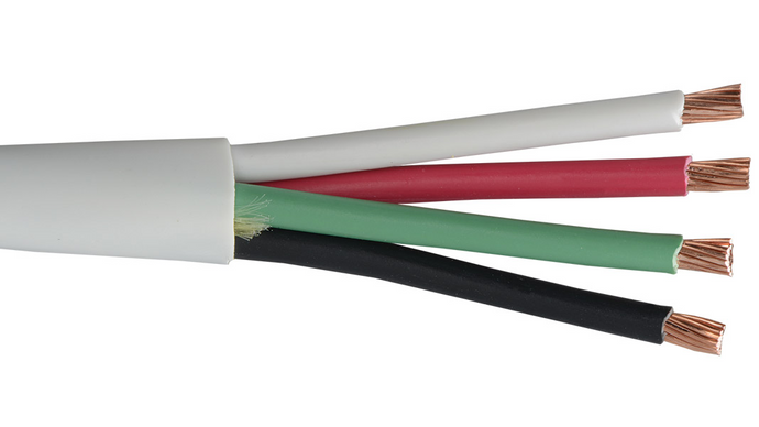 Liberty 16-4C-P-WHT-500 White 16 AWG 4 conductor plenum cable