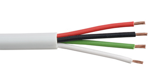 22-4C-P-WHT White Commercial grade general purpose 22 AWG 4 conductor plenum cable