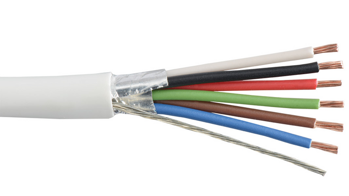 Liberty 22-6C-PSH-WHT White 22 AWG 6C plenum shielded cable
