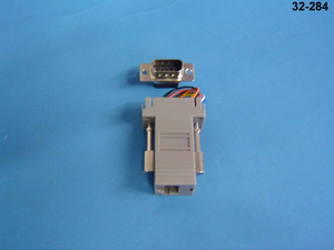 32-284 D-SUB 9-pin male to female 8P8C user configurable adapter