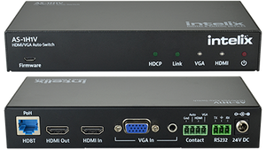 AS-1H1V HDMI/VGA Auto-Switcher with VGA Scaling, HDMI & HDBaseT Output