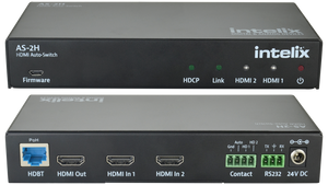 AS-2H Dual HDMI Auto-Switcher with HDMI & HDBaseT Output