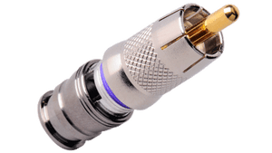 CM-RG6M-RCA C-Tec2 RG6 RCA Plugs for Plenum Single, Dual, Tri or Quad Shield formats