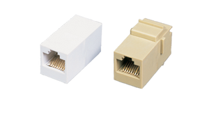 CP-8-WH Keystone style RJ45 in-line coupler for Category 5e U/UTP LAN