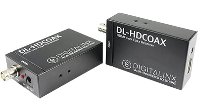 DL-HDCOAX HDMI and IR extension over RG6/RG59