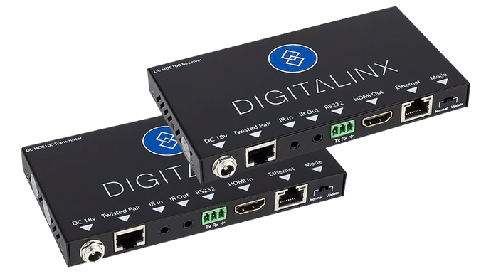 4K HDMI Extender Set with power, control, and ethernet - DL-HDE100