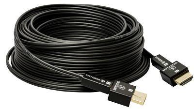 DL-HFC-100F 100' Liberty Plenum rated Hybrid Copper / Fiber Optic HDMI with detachable heads