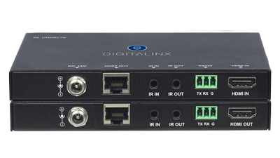 DL-UHDRC70 DigitaLinx HDBaseT TX/RX Set with reclocking feature for cable box and media player compatibility
