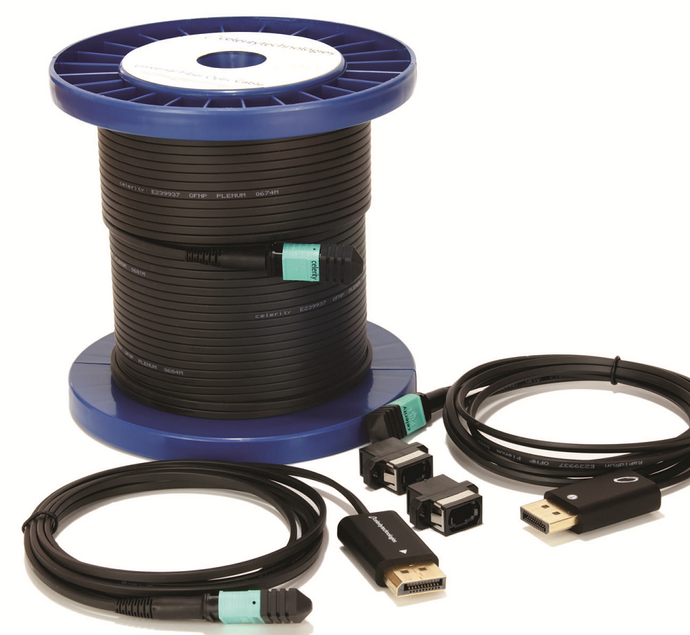 UFO-DP-50P CT FIBER OPTIC DP AOC 50'