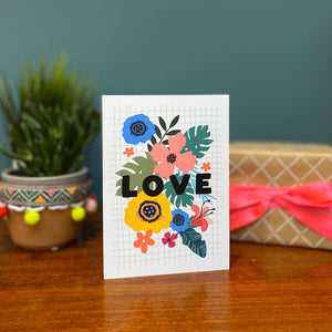 Bright Floral Love Card