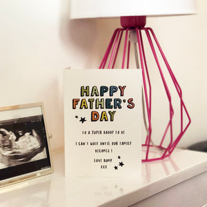 'Father to be' Father's Day Card