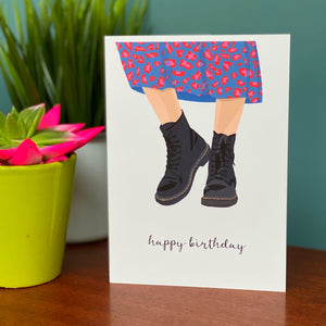 Dr Marten Boots Birthday Card