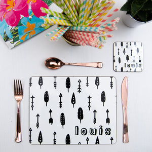Monochrome Personalised Placemat