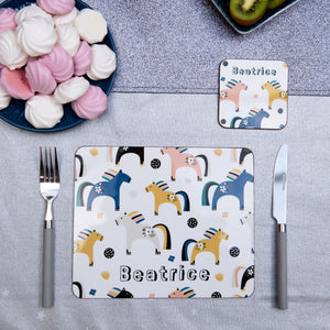 Ponies personalised Placemat