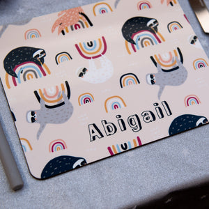 Sloths & Rainbows Personalised Placemat