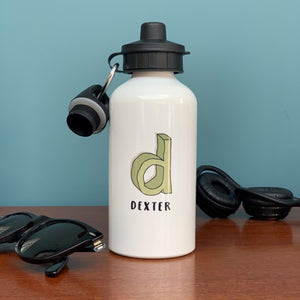 3D Cartoon Sketch Initial Water Bottle