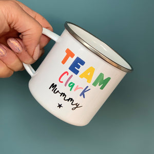 Your Team Personalised Rainbow Mug Set