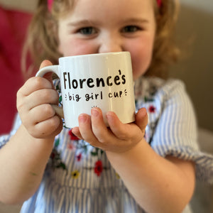 Kids Small China Mug With 'Big Girl/Boy Cup' Design